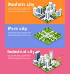 modern 3d city isometric vector image