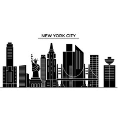 usa new york new york city architecture vector image vector image