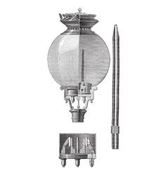 Yablochkov Candle vintage engraved vector image vector image
