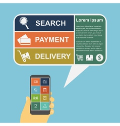 e commerce infographic vector image