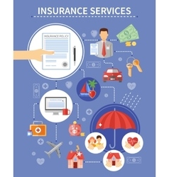 Insurance Services Background vector image vector image