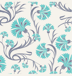 carnations seamless pattern vector image vector image