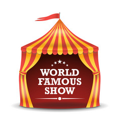 circus tent isolated red and yellow vector image vector image