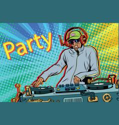dj boy party mix music vector image