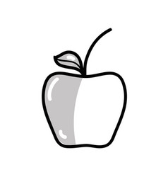 silhouette delicious apple healthy fruit vector image vector image