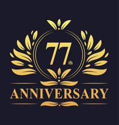 77th anniversary logo 77 years anniversary design vector