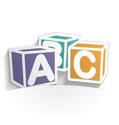 abc icon paper vector image