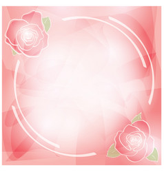 abstract pink background with roses frame vector image