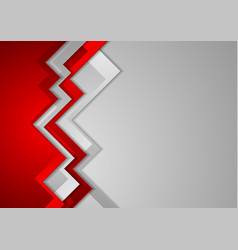 Abstract red and grey corporate background vector