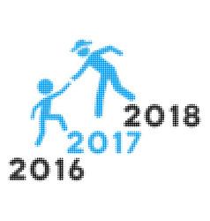 annual friends stairs help halftone icon vector image