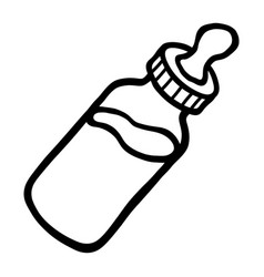 Baby bottle milk icon vector