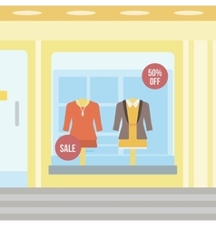 Background of boutique window vector image