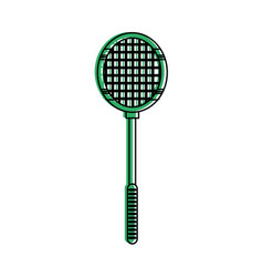 Badminton racquet sport or fitness related icon vector