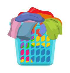 basket with linens vector image