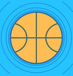 basketball ball sign sand vector image