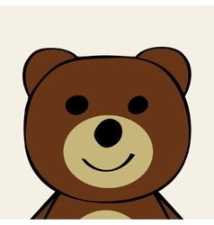 Bear Funny cartoon animal toy vector
