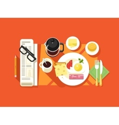 Breakfast design flat vector image