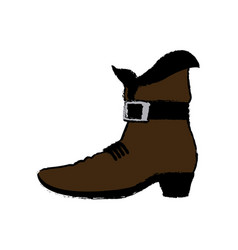 Brown leprechaun boots happy st patrick day vector