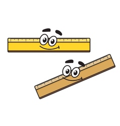 Cartoon long school ruler vector image
