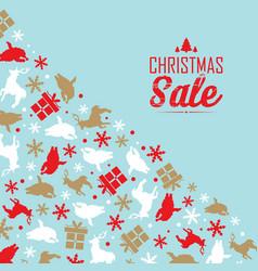 christmas sale event poster vector image