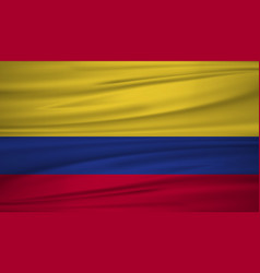 Colombia flag flag of colombia blowig in the vector