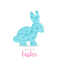 colorful happy easter paper rabbit vector image