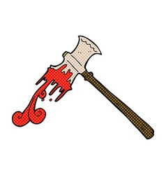 comic cartoon slayer axe vector image