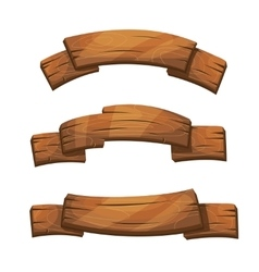 Comic wooden banners and signs vector image