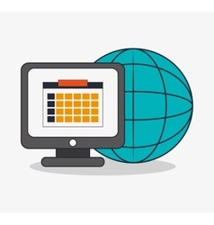 Computer and digital marketing design vector