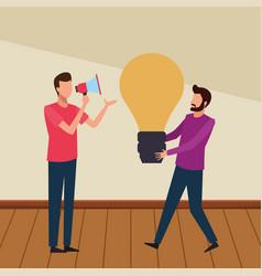 coworkers teamwork cartoon vector image