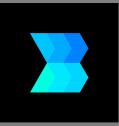 Creative professional letter b logo design vector