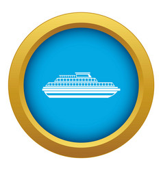 cruise ship icon blue isolated vector image