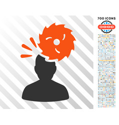 destroy person flat icon with bonus vector image