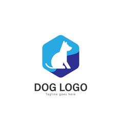 dog logo design modern dog logo template isolated vector image