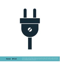 Electricity cable plugin icon logo template vector