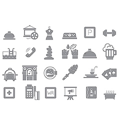 Entertainment gray icons set vector image vector image
