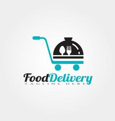 Food delivery logo design vector