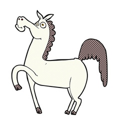 funny comic cartoon horse vector image