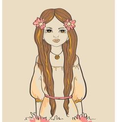 Girl with horns astrological sign virgo vector