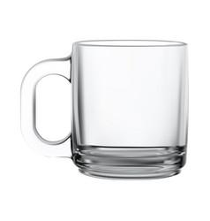 glass mug transparent tea cup isolated mockup vector image