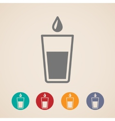 Glass water icons vector