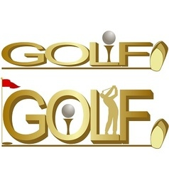 Golf-1 vector image