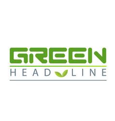 green head line sapling white background im vector image