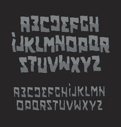 Halloween abstract font zombie style alphabet vector