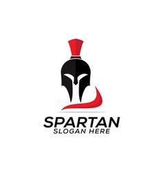 Head spartan logo design template icon vector