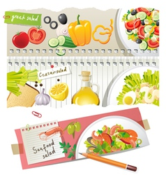 Home salads vector