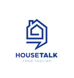 House home talk community forum club logo icon vector