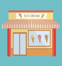 Ice cream store facade vector image vector image