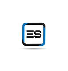 initial letter es logo template design vector image