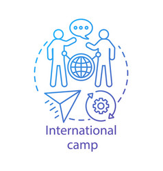 International camp concept icon meeting new vector